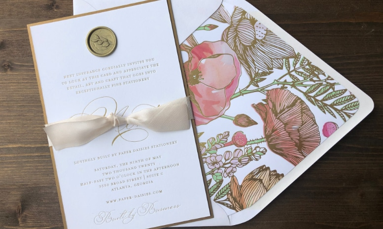 Paper Daisies Stationery contribution for Built By Business project